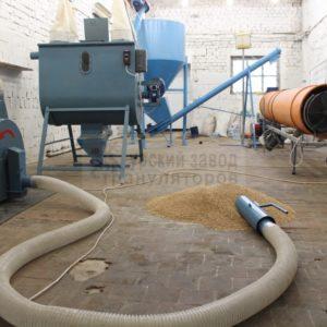 Комплексная линия производства гранул из комбикорма.