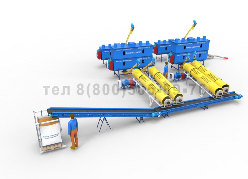 Линия производства топливных пеллет до 4000 кгчас