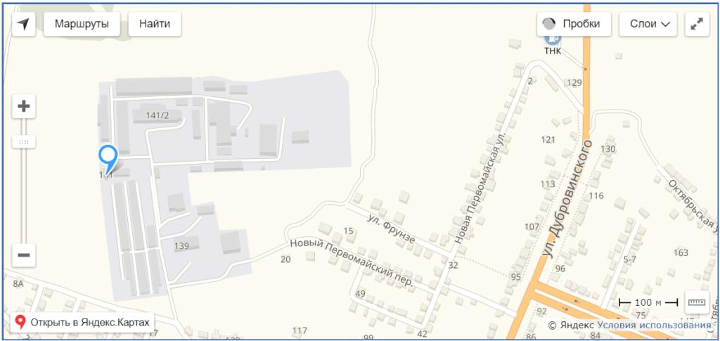 Курский завод грануляторов на карте